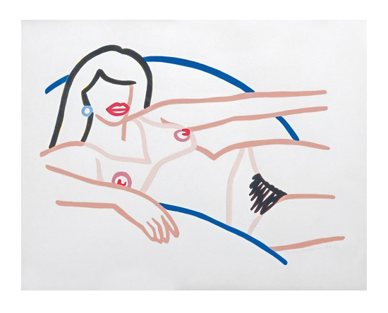Tom Wesselmann | Study for Kate Nude Line Drawing (Brunette).