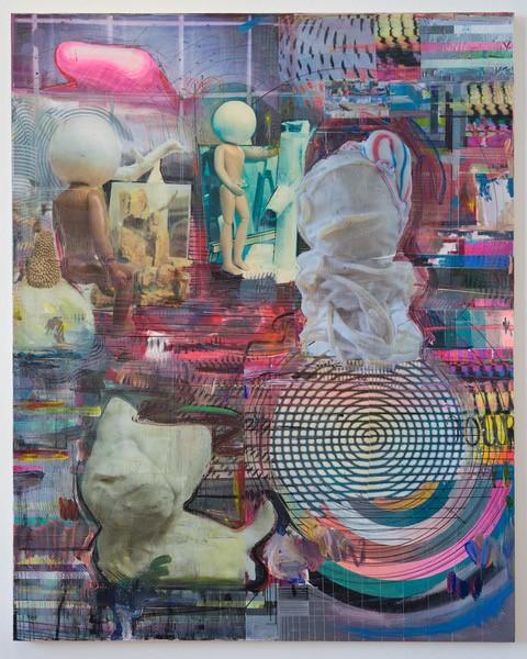 Markus Oehlen | Bulldog in the Atelier.
