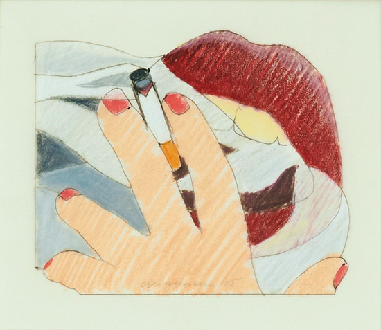 Tom Wesselmann | STUDY FOR A PROPOSED SMOKER.
