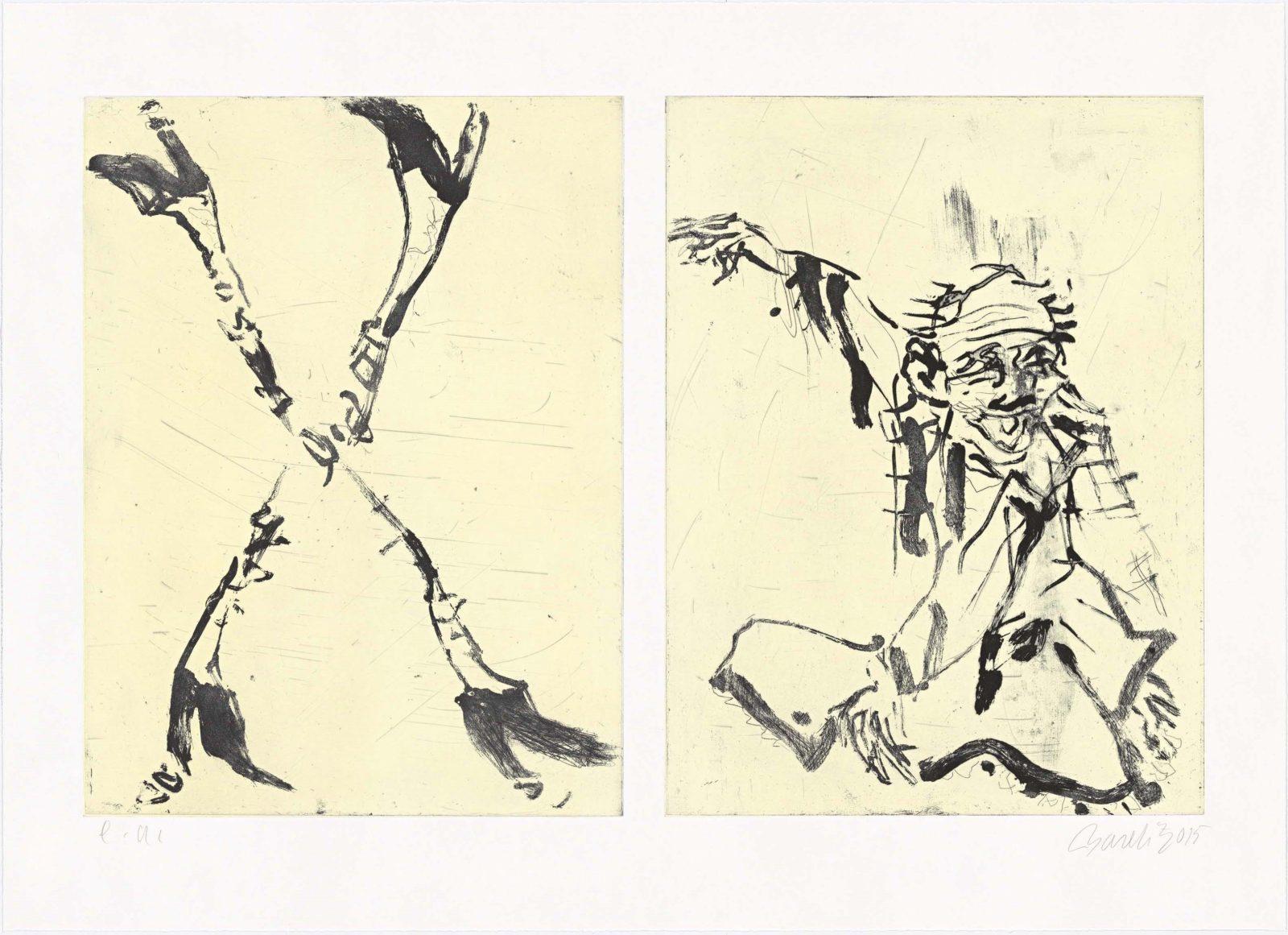 Georg Baselitz | Besuch von Hokusai II.