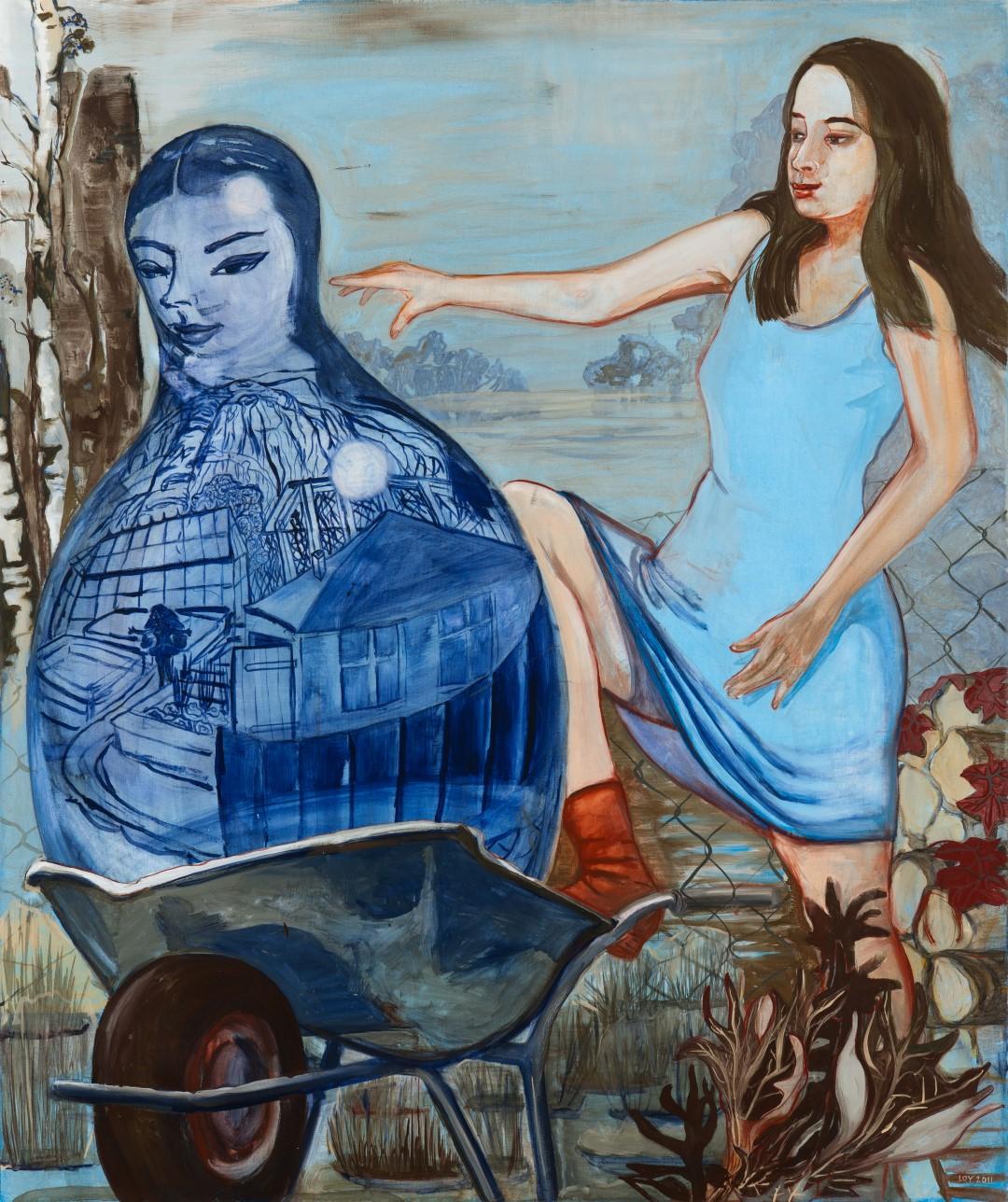 Rosa Loy | Am Zaun