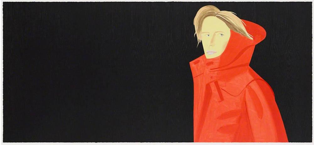 Alex Katz. Nicole. 2018. Holzschnitt. 92,2 x 203,2 cm. signiert & nummeriert. 51/60.