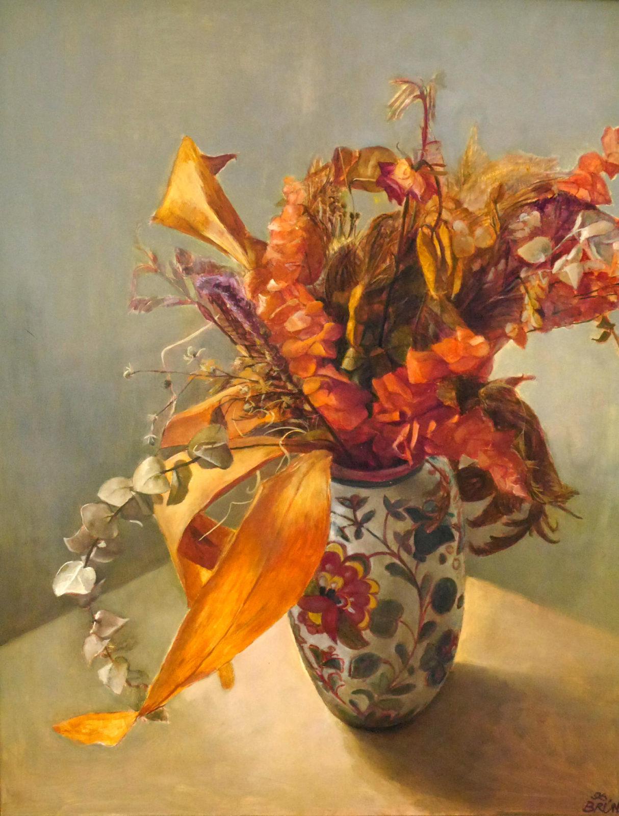 Gudrun Brüne| Blumen in Keramikvase.