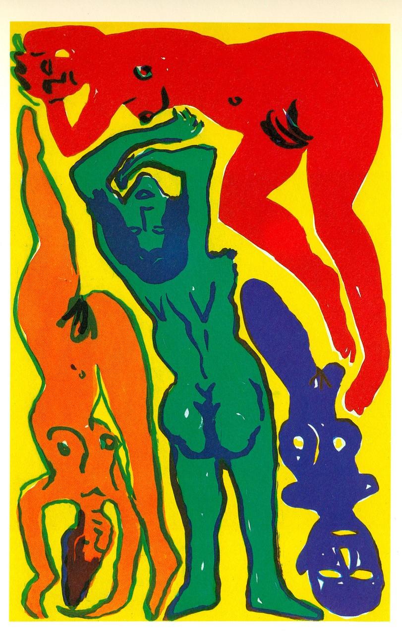 A. R. Penck | 3 Frauen mit Dämon