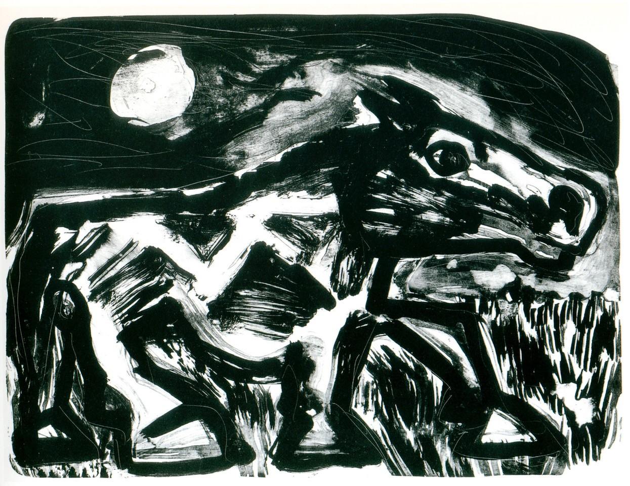 A. R. Penck | Pferd bei Mondschein.