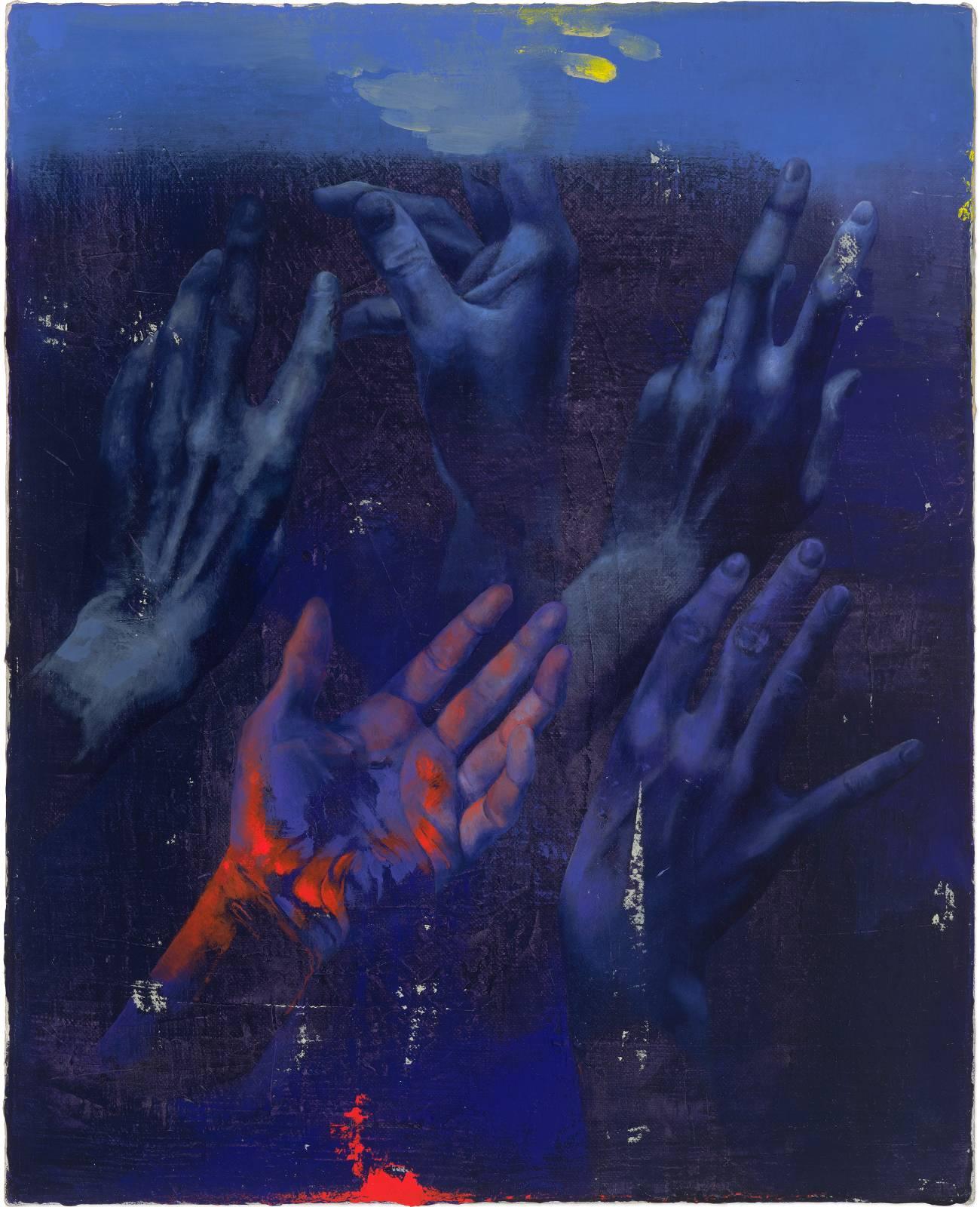 Isabelle Dutoit | Hände (violett).
