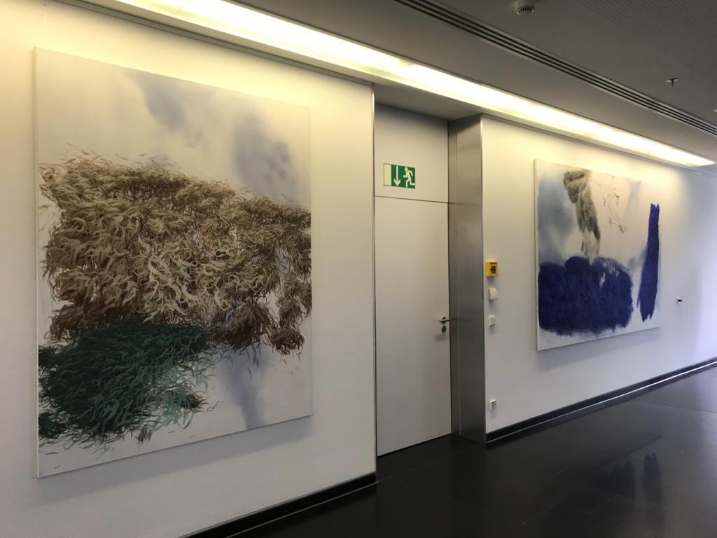 Der Berliner Maler Harald Gnade erobert die Augsburger Hessingpark-Clinic mit Tiefgang in Hochform