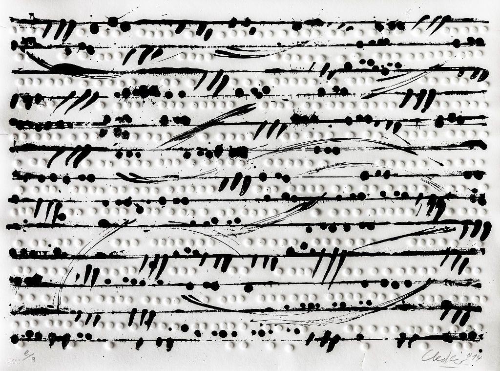 Günther Uecker | Optische Partitur I.