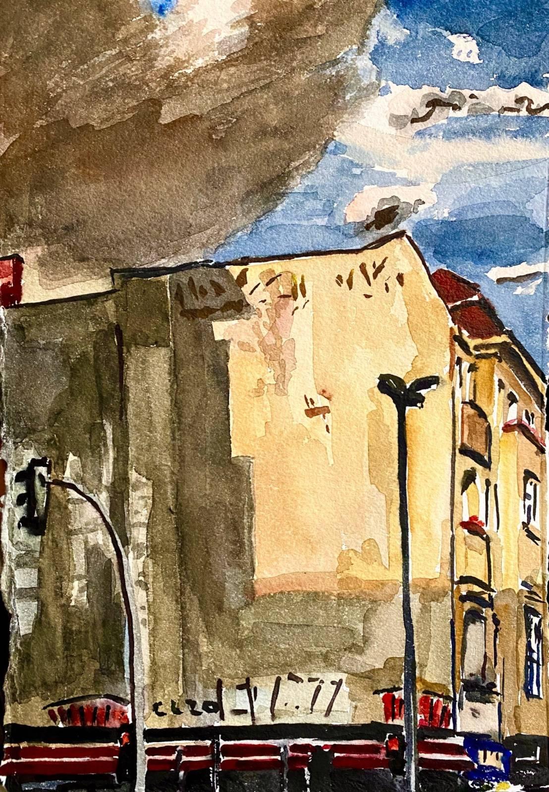 Christopher Lehmpfuhl | Brandmauer im Abendlicht.
