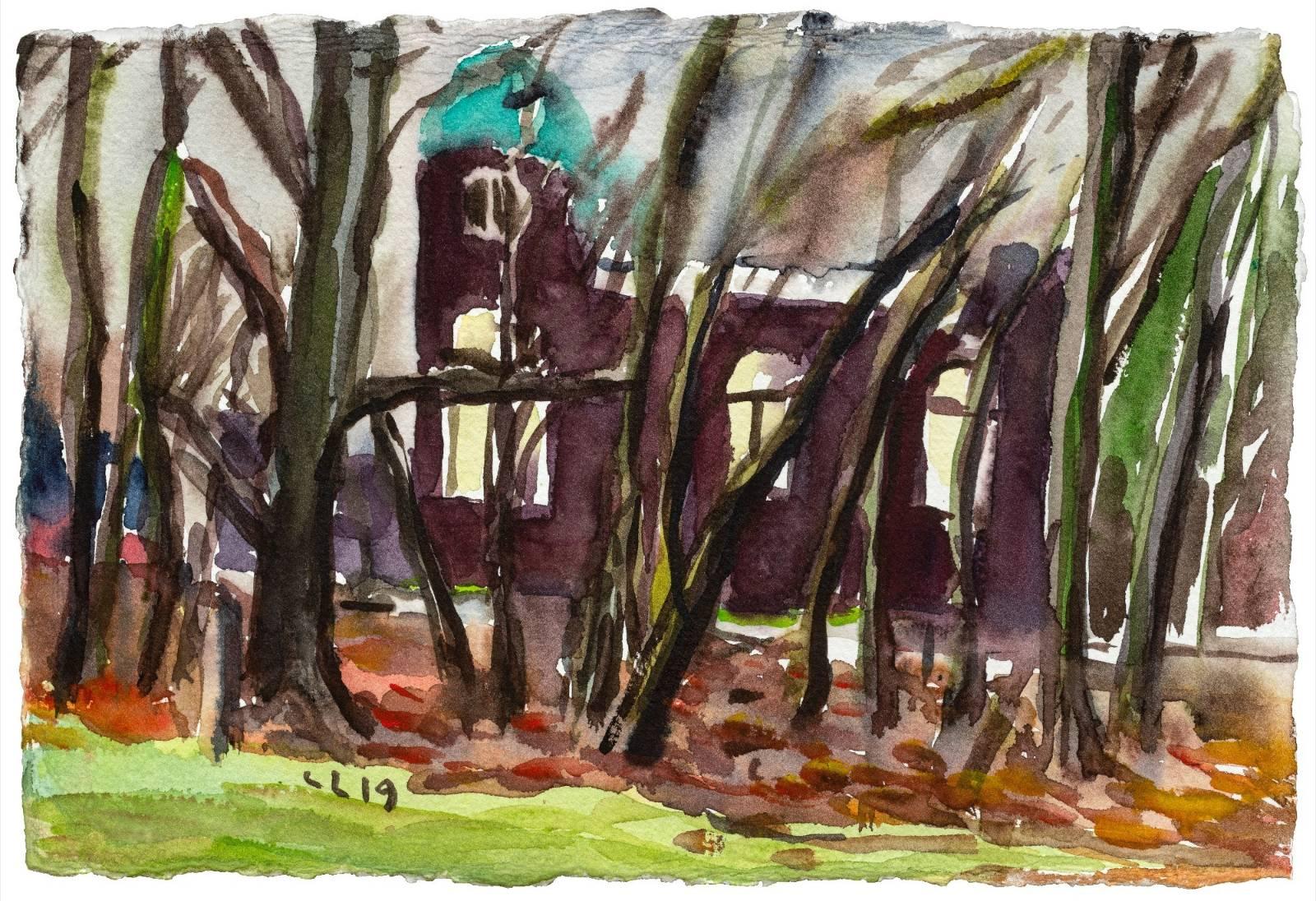 Christopher Lehmpfuhl | Haus durch Bäume.