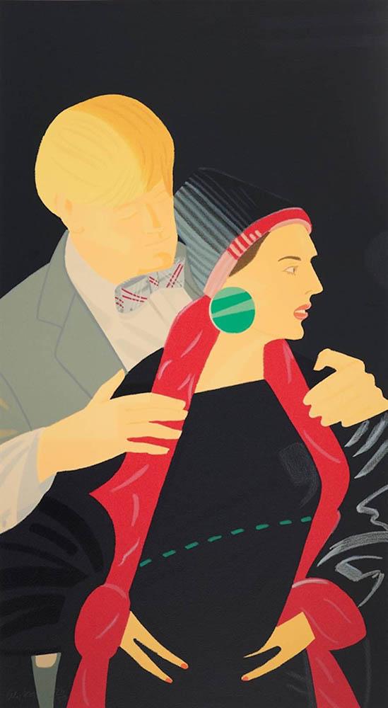 Alex Katz. Pas De Deux V (Red Grooms And Lis Ross). 1995. Siebdruck. 91 x 51 cm. 35/150.