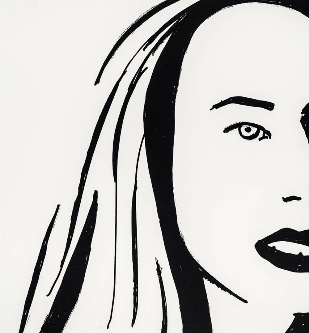 Alex Katz. Beauty 6. 2019. Radierung. 51 x 48 cm. signiert & nummeriert. 20/30.