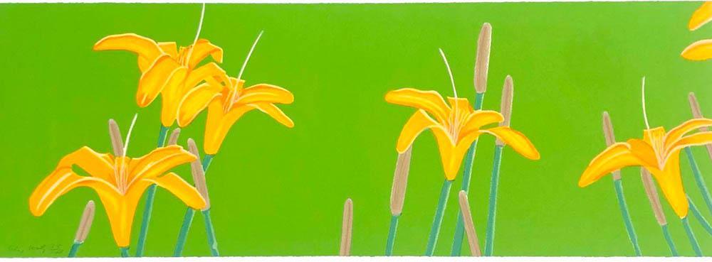 Alex Katz. Day Lillies. 1993. Siebdruck. 25,6 x 101 cm signiert & nummeriert. 38/108.