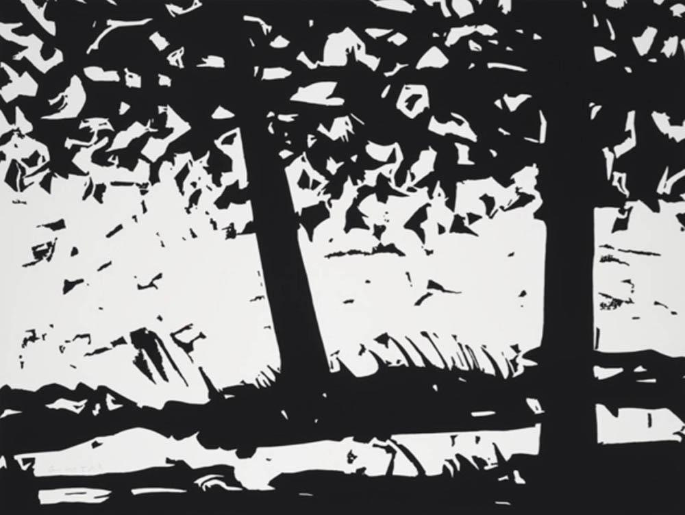 Alex Katz. Main Woods 1. 2013. Holzschnitt. 76 x 99 cm. 10/50.