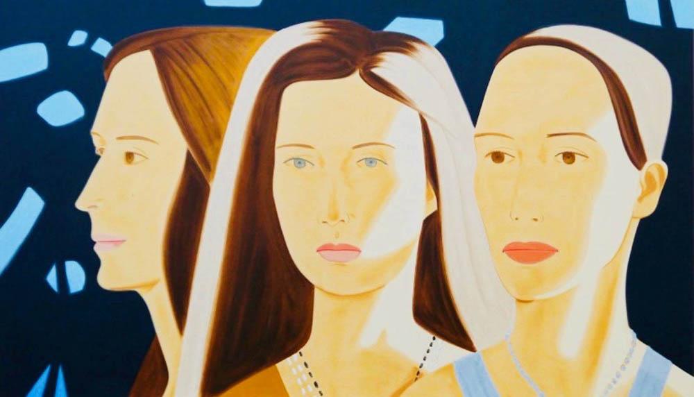 Alex Katz. Trio. 2019. Siebdruck. 66x2 x 113 cm. signiert & nummeriert. 37/50.