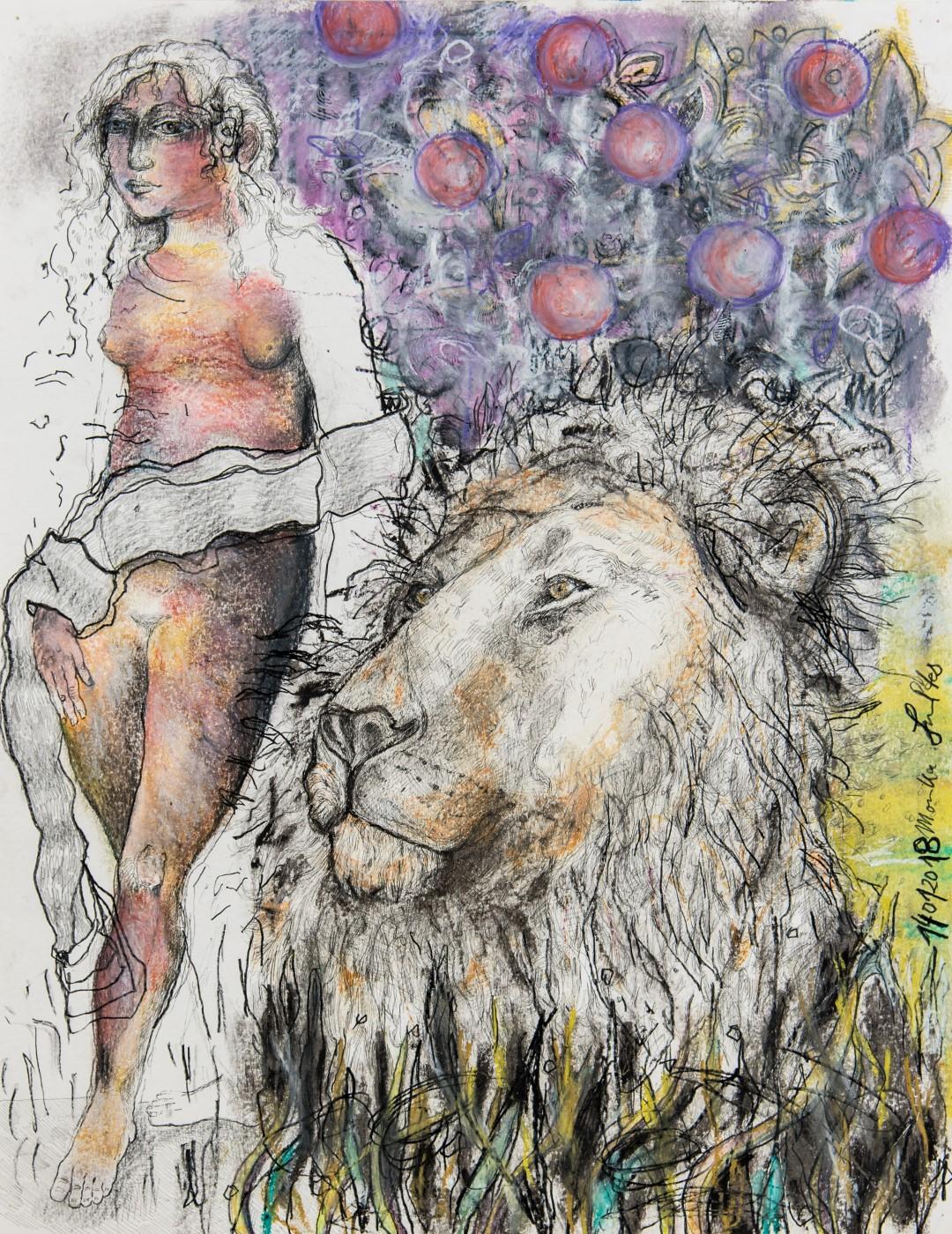 Monika Schultes | Venus und Löwe nach Lucas Cranach (um 1530)
