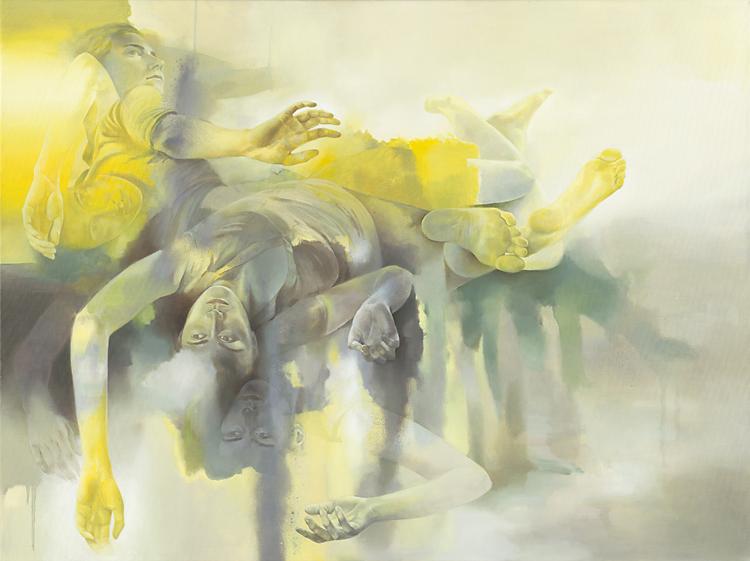 Isabelle Dutoit | ohne Titel (gelb-grau).