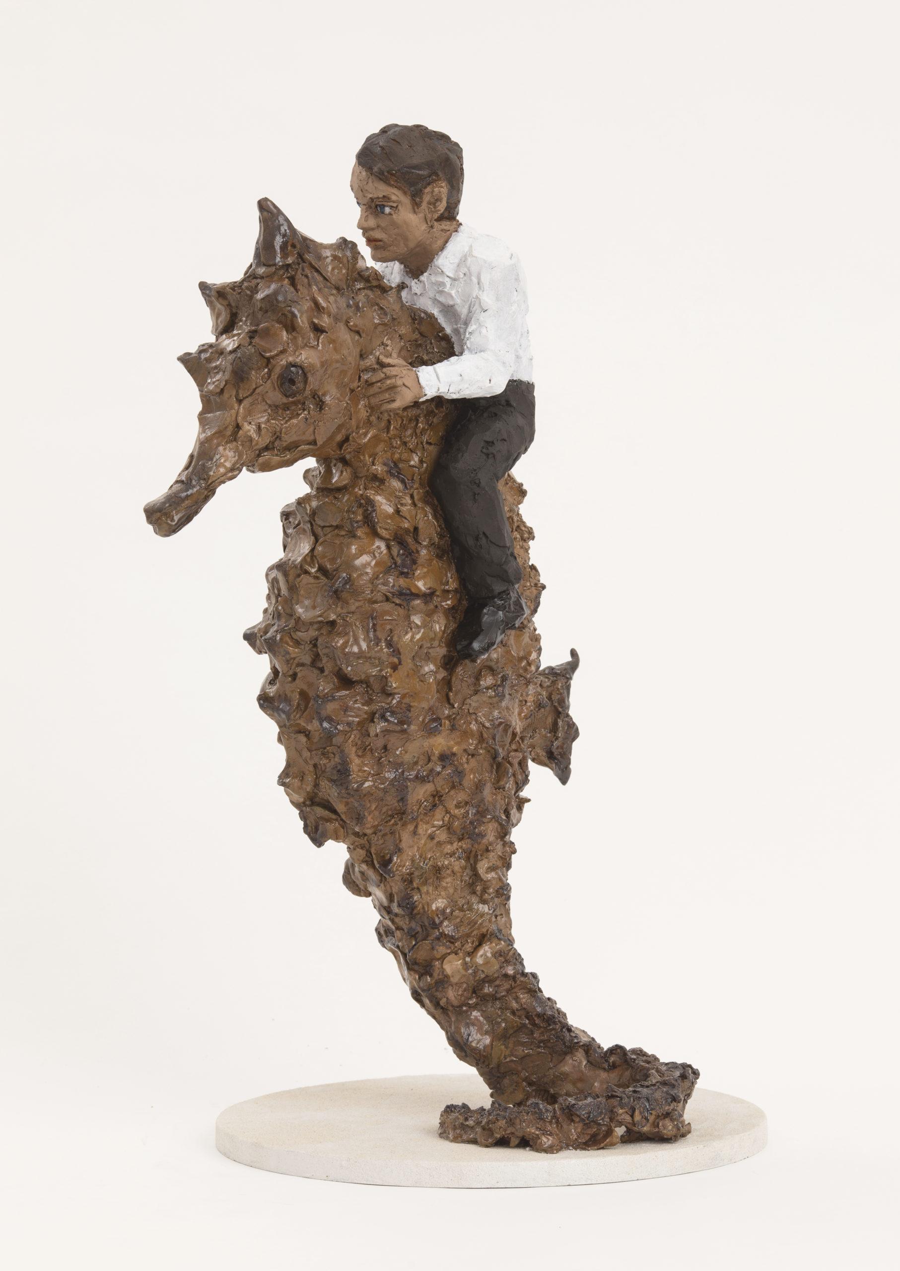 Stephan Balkenhol   Mann auf Seepferdchen