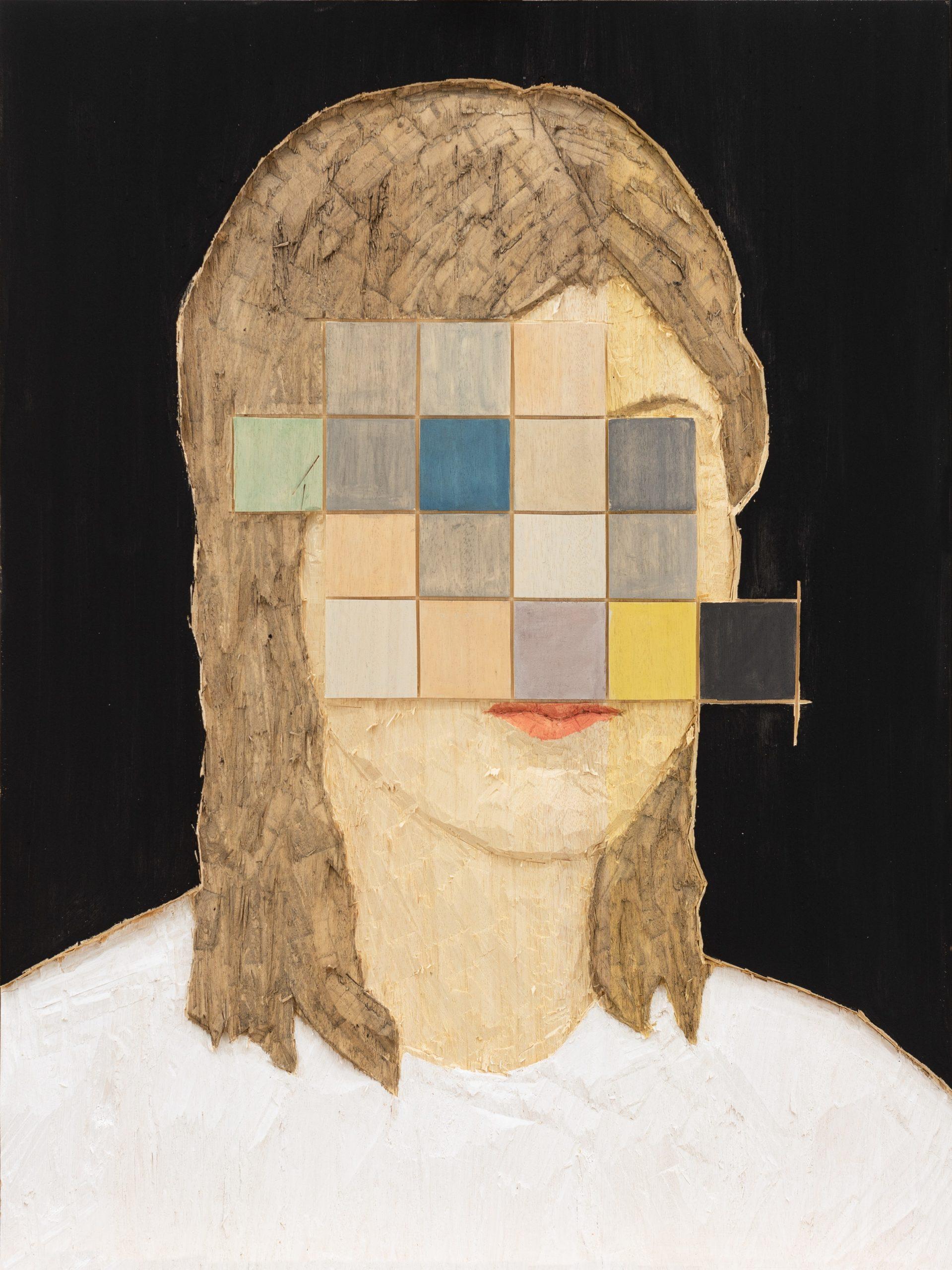 Stephan Balkenhol   Frau mit Pixeln