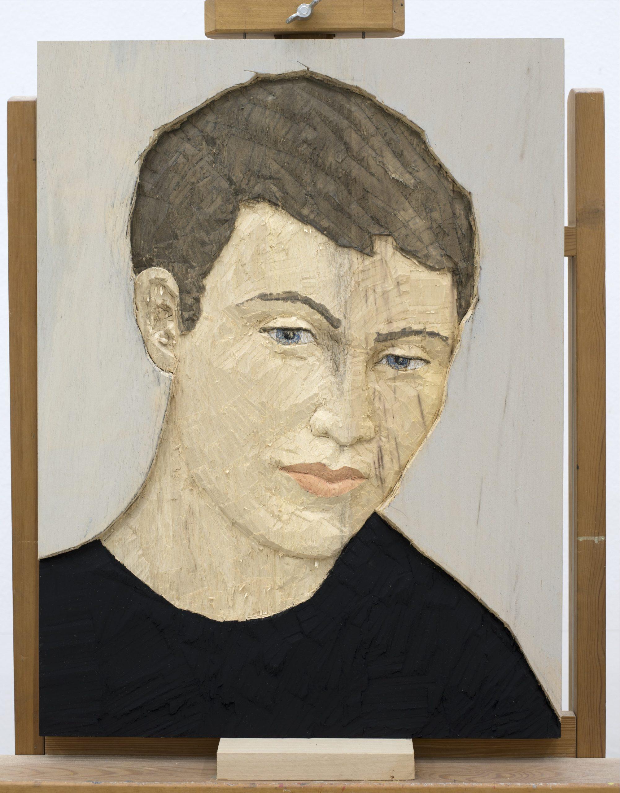 Stephan Balkenhol   Kopfrelief Mann